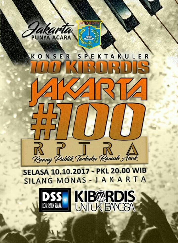 KONSER 100 KIBORDIS  #100 RPTRA 2017