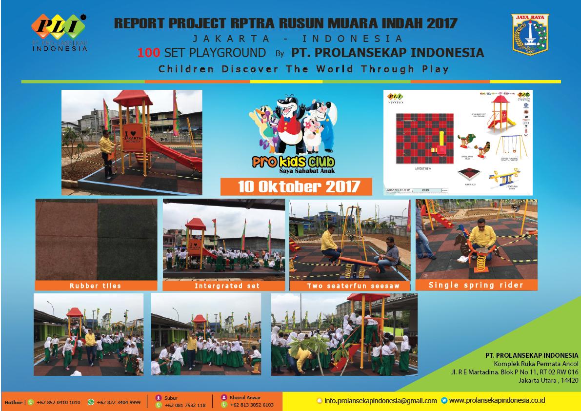 REPORT PROJECT RPTRA RUSUN MUARA INDAH 2017